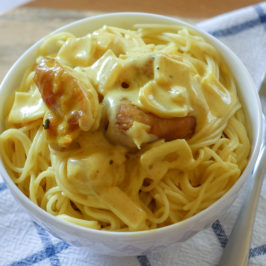 Pasta With Chicken In Creamy Adobo Sauce