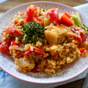 Cajun Chicken Veggie Rice