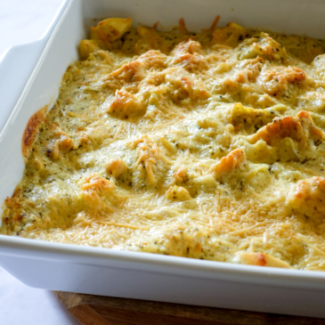 Ricotta and Pesto Baked Tortellini